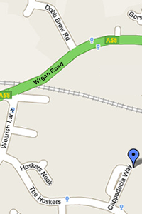 Map of New Westhoughton CC Club House